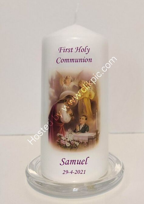 Personalised Communion Candle
