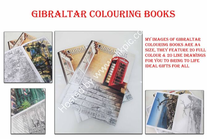 Gibraltar colouring book