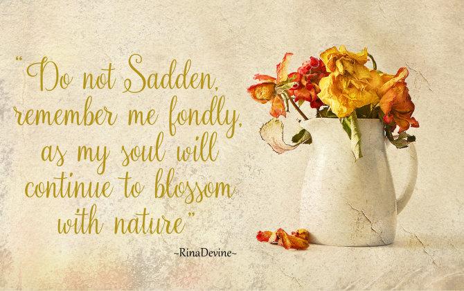 Do not sadden