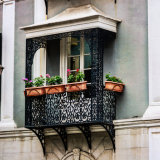 Balcony in gibraltar's John Mackintosh Square, off Irish Town