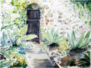 Bodnant Gardens (watercolour) by Hilary Squires