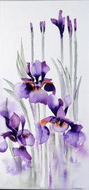 Water Iris (watercolour) by Derek Hopper