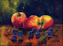 Autumn fruits (acrylic) by Sheila Linkleter