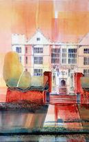 Fountains Hall (watercolour) by Derek Hopper