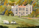 Fountains Hall (watercolour) by Jim Counter