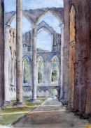 Fountains Abbey (watercolour) by Heather Powell