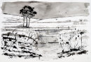 Winter Stream (pen and ink) by Hilary Squires