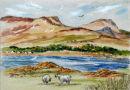 Isle of Skye (watercolour) by Mary Atkinson