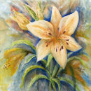 Lilies (watercolour) by Mary Atkinson