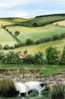 Near and Far (watercolour) by Majorie Robinson