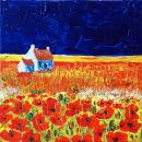 Poppy Field (Acrylic) by Sheila Linkleter
