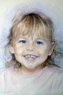 Anna (watercolour) by Mike Ibbetson
