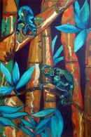 Rainforest (acrylic/oil) by Sandra Jowett