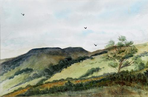 Simonstone, Cumbria (watercolour) by Mary Atkinson