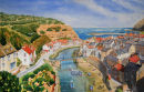 Staithes (watercolour) by Brian Nixon