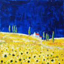 Sunflowers (Acrylic) by Sheila Linkleter