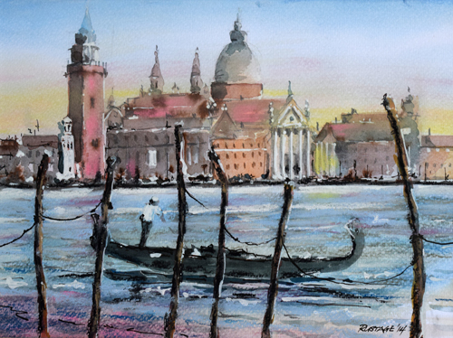 Venice (watercolour) by Frank Rustage