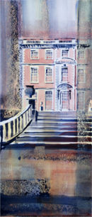 Newby Hall (watercolour) by Derek Hopper
