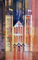 Ripon Cathedral (watercolour) by Derek Hopper