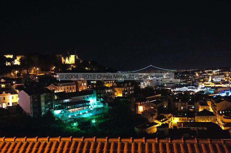 Night view from MIRADOURO DA GRAÇA