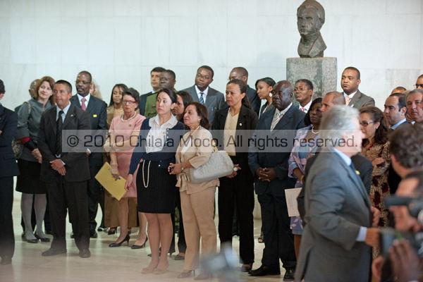 Angola and brazilian delegates.