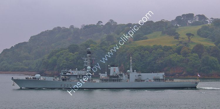 REF-RNGB(FRG)-55 HMS Lancaster F229 Type 23 Duke Class Frigate Royal Navy Leaving RN Devonport Dockyard Plymouth For Plymouth Sound Great Britain 2020 (C)RLT Aviation And Maritime Images 2020 opt