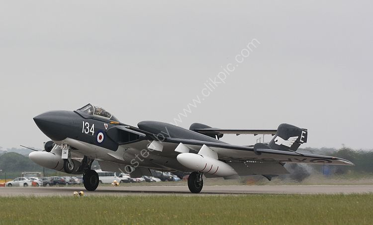 Ref DH110-33 DeHavilland DH110-D3 Sea Vixen XP924 G-CVIX Ex Royal Navy De Havilland Aviation Ltd RNAS Culdrose Cornwall Gt Britain 2013 (C)RLT Aviation And Maritime Images 2018