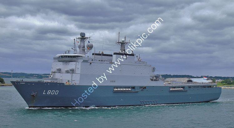 RNN(LDP)-33 NHLMS Rotterdam L800 Dock Landing Platform Royal Netherlands Navy Leaving RN Dockyard Devonport Plymouth Devon GB 2020 (C)RLT Aviation And Maritime Images 2020 opt