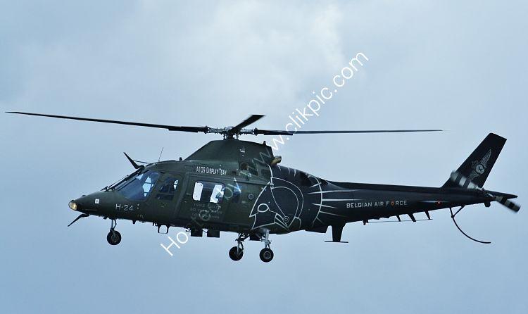Re-A109-8 Augusta A109BA Hirundo H24 Belgian Air Force RAF Cosford Shropshire Gt Britain 2012 (C)RLT-Aviation And Maritime Images 2018 opt