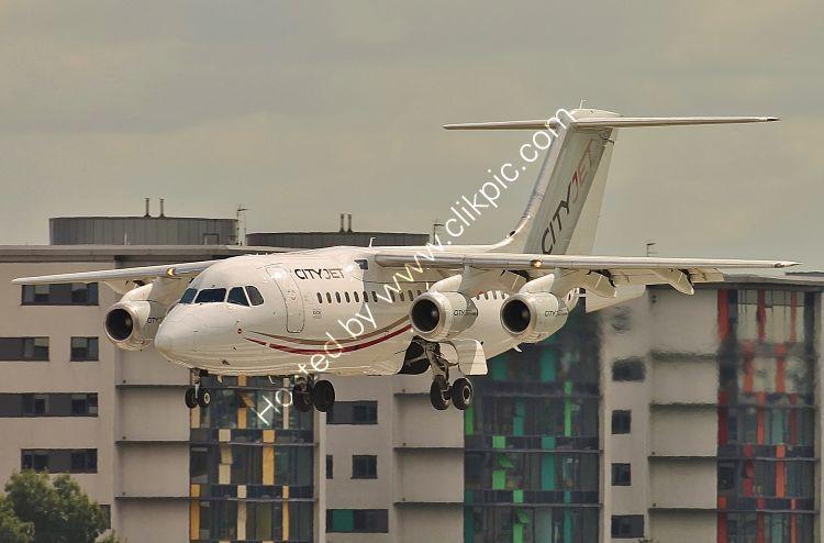 Ref 146-35 Avro RJ85 City Jet EI-RJF London City Airport London Gt Britain 2017 (C)RLT Aviation And Maritime Images 2018 opt