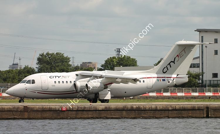 Ref 146-41 Avro RJ85 EI-RJF CityJet London City Airport London Gt Britain 2017 (C)RLT Aviation And Maritime Images 2018 opt