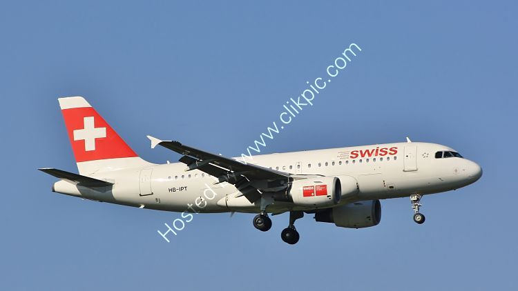 Ref-A319-4 Airbus A319-112 Swiss International Airlines HB-IPT London Heathrow Airport Middx Gt Britain 2010 (C)RLT Aviation And Maritime Images 2018 opt