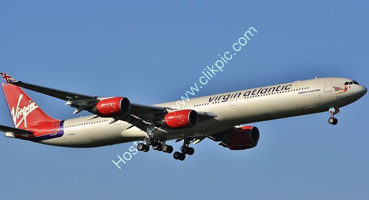 Ref-A340-7 Airbus A340-642 Virgin Atlantic Airways G-VGAS London Heathrow Airport Middx Gt Britain 2010 (C)Copyright Reserved RLT-Aviation-And Maritime Images 2021 opt