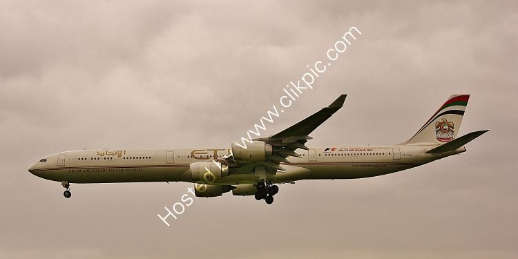 Ref-A340-8 Airbus A340-642HGW Etihad Airways A6-EHL London-Heathrow Airport Middx Gt Britain 2012 (C)Copyrights Reserved RLT-Aviation And Maritime Images 3021 opt