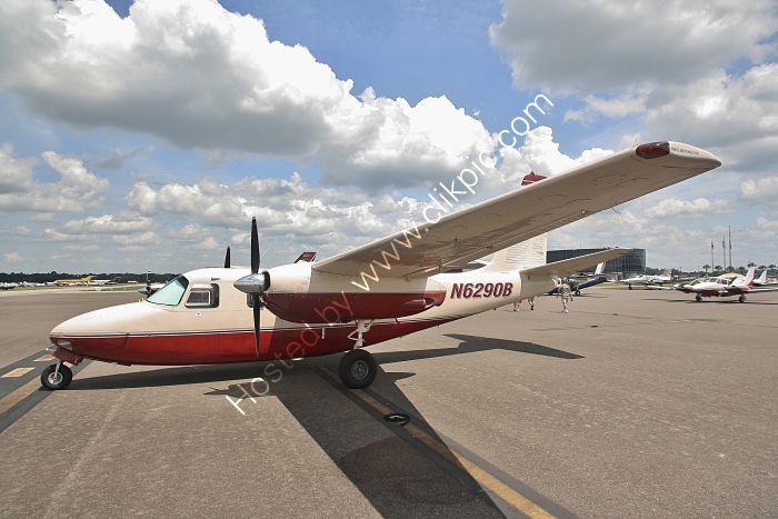 Ref AC50-1 Aero Commander 500 N6290B Lakeland Airport Florida USA 2015 (C)RLT Aviation And Maritime Images 2018 opt