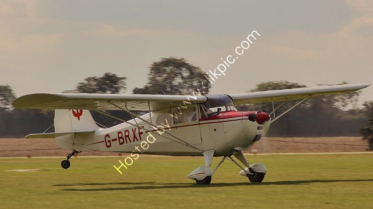 Ref-AER24 Aeronca 11AC Chief G-BRXF Sywell Aerodrome Northamptonshire Gt Britain 2017 (C)Copyrights Reserved - RLT Aviation And Maritime Images 2021
