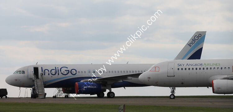 Ref-ASC-121 Airbus A320-232's Ex-Indigo VT-INV & Sky Angkor  In Storage Cotswold Apt  Gloucs GB 2020 (C) All Copyrights Reserved 2021 RLT Aviation & Maritime Images.