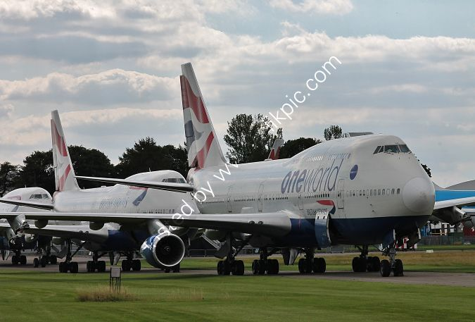Ref-ASC-179 Boeing 747-436's Ex-British Airways To Be Parted Out Cotswolds Airport (Kemble) Gloucestershire GB 2020 (C)RLT Aviation And Maritime Images 2020