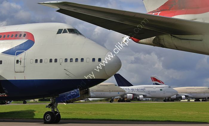 Ref-ASC-185 Boeing 747-400's Queens Of The Sky Await Their Fate Cotswolds Airport (Kemble) Gloucestershire GB 2020 (C)RLT Aviation And Maritime Images 2020