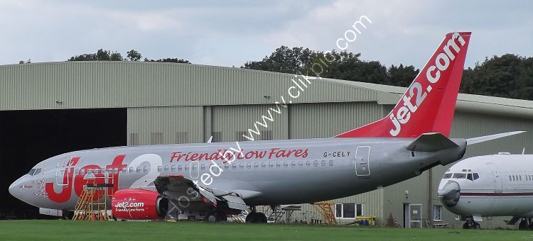 Ref-ASC137 Boeing 737-377 Ex Jet2 G-CELY Being Parted Out Cotswold Apt Gloucs Gt Britain 2020 (C) All Copyrights Reserved 2021-RLT-Aviation And Maritime Images 2021 opt