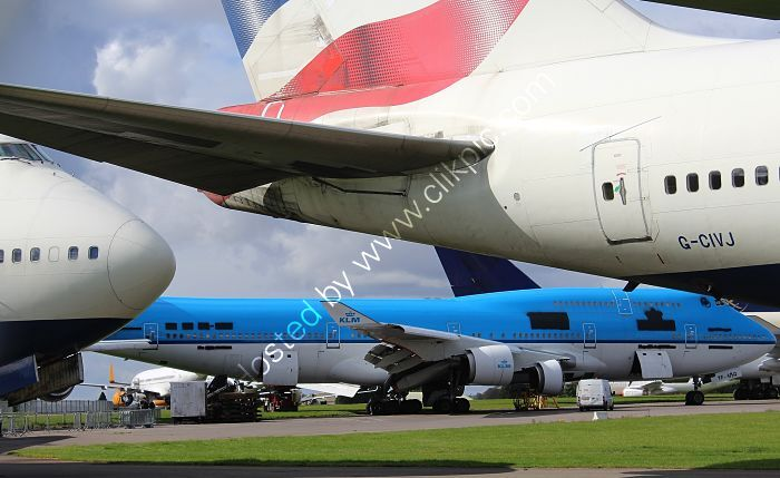 Ref-ASC195 Boeing 747-400's  of KLM And British Airways In Store & Parting Out Cotswold Apt Gloucs GB (C)All Copyrights Reserved 2021 RLT Aviation And Maritime Images opt