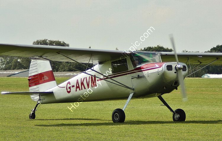 Ref-C120-7 Cessna C120 Private Owner G-AKVM Sywell Aerodrome Northamptonshire Gt Britain 2017 (C) All Copyrights Reserved 2021 RLT Aviation And Maritime Images opt