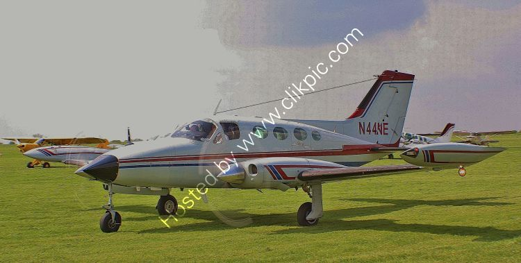 Ref-C414-2 Cessna  414 Private Owner N44NE Sywell Aerodrome Northamptonshire Gt Britain 2013 (C)All Copyrights Reserved 2021 RLT Aviation And Maritime Images  opt