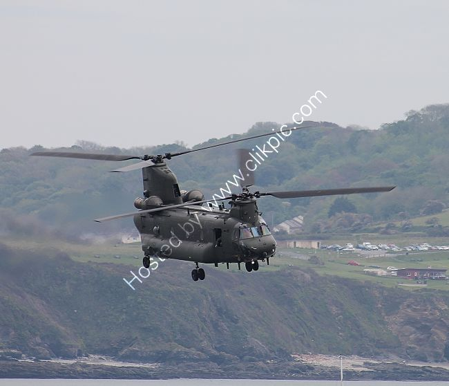 Ref-CH47-49 Boeing CH47 Chinook RAF ID Unkown Plymouth Sound Plymouth Devon GB 2021 (C)Copyrights Reserved RLT-Aviation And Maritime Images 2021 opt