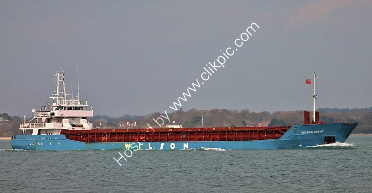 Ref-CSSC-303 Wilson Ghent General Cargo Ship Short Sea Trader Southampton Water Hampshire GB 2021 (C)Copyright Reserved 2021-RLT Aviation And Maritime Images opt