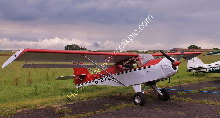 Ref-DEN-1 Deny Kitfox 3 Private Owner G-BTOL At a very stormy Dunkerswell Aerodrome Devon Gt Britain-2012 (C) All Copyrights Reserved 2021 RLT Aviation And Maritime Images opt