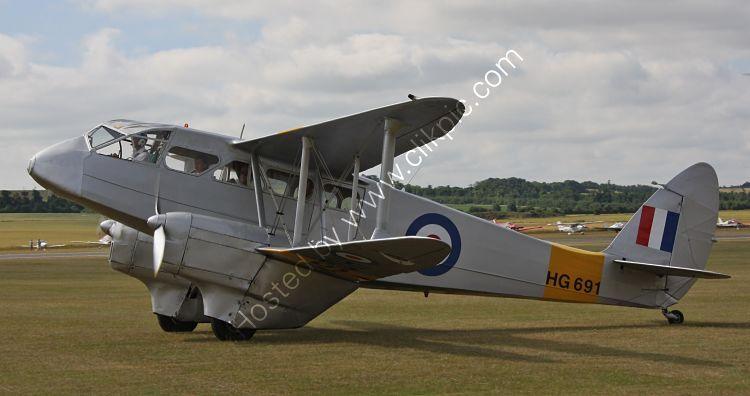 Ref-DH89-3 De Havilland DH89A Dragon Rapide HG691~G-AIYR Duxford Aerodrome Cambridgeshire Gt Britain 2010 (C)RLT Aviation And Maritime Images 2018 opt