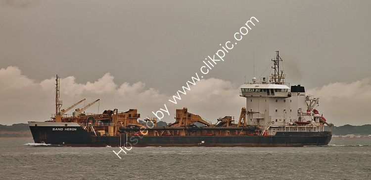 Ref-DRG35 Sand Heron Dredger Entering Southampton Water Hampshire Gt Britain 2020 (C)RLT Aviation And Maritime Images 2020 opt