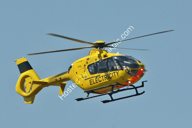 Ref-EC13-19 Airbus Eurocopter EC135-P2 Western Power G-WPDA Bristol Airport North Somerset Gt Britain 2017 (C)Copyrights Reserved - RLT-Aviation And Maritime Images 2021