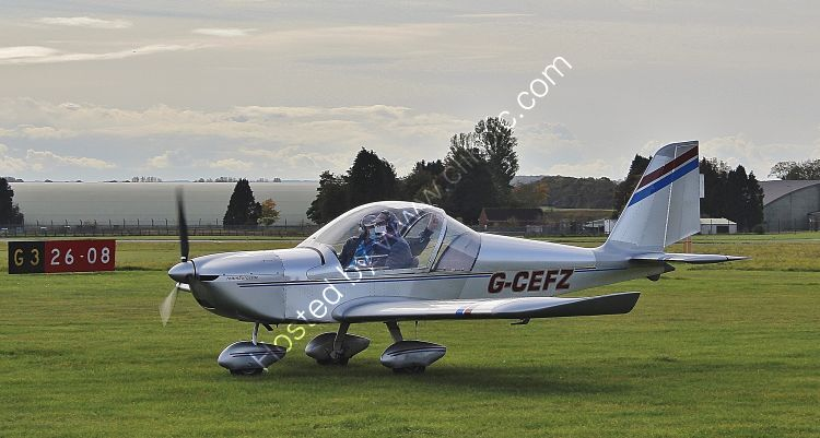 Ref-EST39 Evektor EV97 Eurostar G-CEFZ Cotswold  Airport Gloucestershire Gt Britain 2010 (C)RLT Aviation And Maritime Images 2020 opt